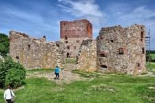 Hammershus slotsruin på Bornholm